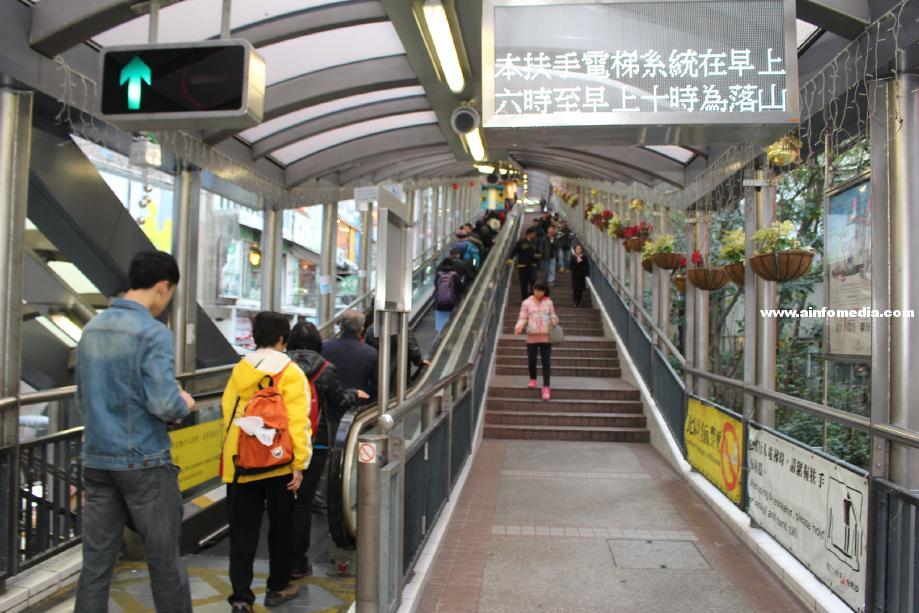 [香港-中環] 半山手扶梯