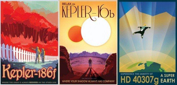[新聞]  NASA 開辦外星旅遊局,製作有趣海報