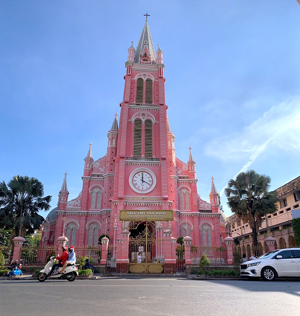 2019 越南*胡志明*景點 – 【粉紅教堂(Nhà thờ Tân Định)】