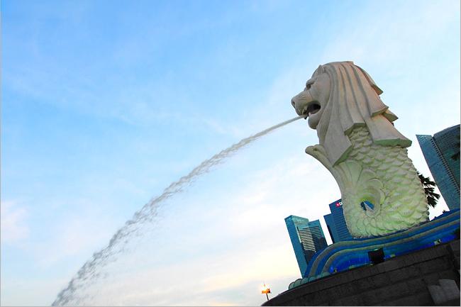 新加坡必去景點~魚尾獅公園