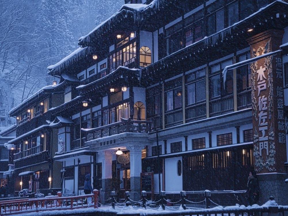 銀山溫泉街,日本最有特色的雪景